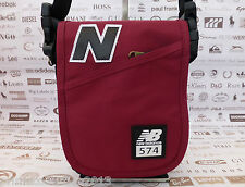 NEW BALANCE Slim Style SMALL Bag Black/Bur Shoulder Flap Body Belt Bags BNWT