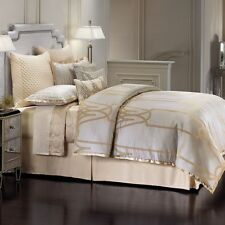 NEW Jennifer Lopez Chateau Comforter Set Champagne Gray Gold - QUEEN