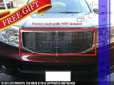 GTG, 2012 - 2015 HONDA PILOT 1pc CHROME UPPER BILLET GRILLE KIT