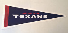 """Houston Texans FATHEAD Official Team PENNANT Graphic 31"""" x 11"""" NFL Wall Decal"""