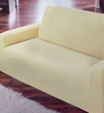 2er Sofa Bezug Überwurf Tagesdecke Decke Schonbezug Protector Spannbezug BEIGE