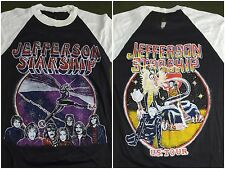 True Vintage 70s 80s Jefferson Starship American US Tour White Raglan T-Shirt M