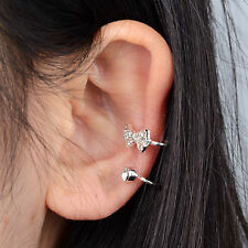 Women Clip Ear Cuff Stud Punk Wrap Cartilage Earring Jewelry