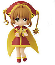 Card Captor Sakura 3'' Sakura Red and Gold Costume Banpresto Prize Figure NEW