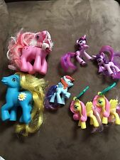 MIXED LOT OF 9 MY LITTLE PONY TOYS BACK PACK CLIPS AND PONIES