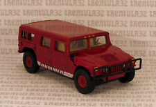 100% HW MILITARY-DESIGNED HUMMER HUMVEE DARK RED W RUBBER TIRES HOT WHEELS LOOSE
