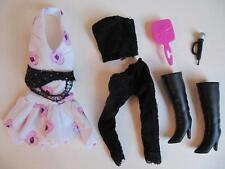 Hannah Montana Doll Miley Cyrus Clothes Dress Lace Leggings Boots Fashion set