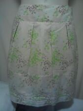 Colorado Ladies Skirt in Cream with a Green and a Brown Abstract Print Size 14