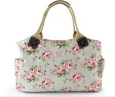 VINTAGE STYLE PASTEL FLORAL ROSE OIL CLOTH TOTE BAG HANDBAG MILLIE DESIGN BAG