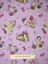 Disney Princess Rapunzel Belle Cotton Fabric Springs Dots on Orchid CP52273 YARD
