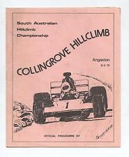 1975 Collingrove Hill Climb Programme Production Touring Racing Sports Vintage