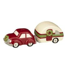 Grasslands Road - Christmas -Car w/Trailer Salt & Pepper Shakers- 471432