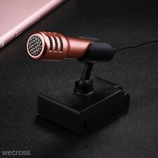 Universal Gold 3.5mm Mini Microphone Mic Talk Recorder For iphone Samsung Laptop