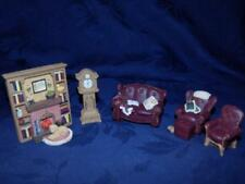 "Miniature Furniture 'LIVING ROOM"" 6 Piece - Avon Collectible Victorian Memories"