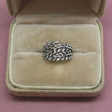 Sterling silver  three leaf design ring size 7 sterling silver 925