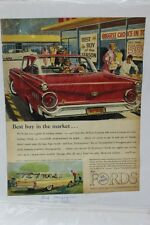 "Vtg Automobile Advertisement 11 X 14"" 1959 Ford Custom 300 (A75)"