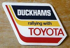 Duckhams Rallying with Toyota Motorsport Rally Sticker / Decal