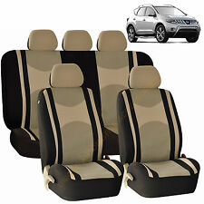 BEIGE AIRBAG SEAT COVERS & SPLIT Bench 9pc SET FOR NISSAN MURANO SENTRA ROGUE