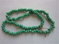 100 GREEN CROW BEADS GLASS 9MM JEWELRY CRAFTS  PROJECTS