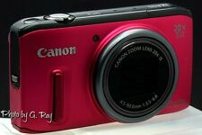 CANON PowerShot SX260 HS RED-RECONDITIONED DIGITAL CAMERA W/CLEAR SHARP PICTURES
