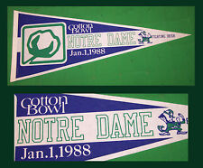 1988 University of Notre Dame Fighting Irish Football Pennant! Cotton Bowl!