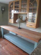 8' BUTCHER BLOCK TABLE long CENTER ISLAND industrial look DELIVERY is AVAILABLE