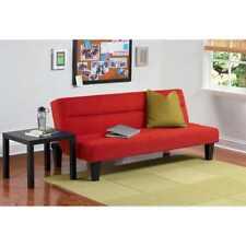 Kebo Futon Sofa Bed, Red Dorm Bed