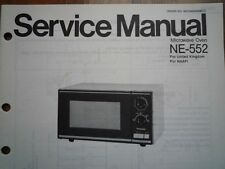 Vintage National Panasonic NE-552 Microwave Oven Service manual wiring diagram