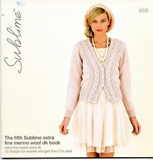 The Fifth Sublime Extra Fine Merino Wool DK Book 658 - 12 Designs Women & Girls