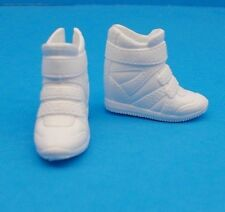 2016 Barbie Shoes Fashionistas CURVY & TALL Doll White Sporty High Top Sneakers