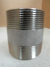 """NEW NO NAME STAINLESS S/S 304 NIPPLE 2-1/2"""" X 2"""" NPT L80S-MBJ0707300"""