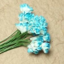 20 TURQUOISE GYPSO FLOWERS FOR CARDS OR CRAFTS