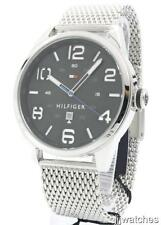New Tommy Hilfiger Men Steel Mesh Band Date Watch 45mm 1791161 $135