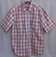 New Carhartt Mens Relaxed Fit Western Pearl Snap SS Shirt L Large Plaid NWOT!