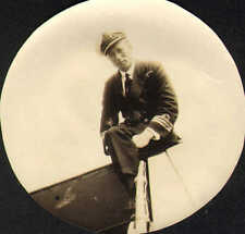 1924 photo of captain meric taken on h.m.s newark cowes week