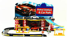 Childs Garage Petrol Station Parking Toy Car Park Vehicle Road Signs Play Set