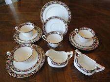 Antique ! 14 Pieces Royal Grafton Tea Set Pompadour Pattern, 1990 - 1913, No Tax