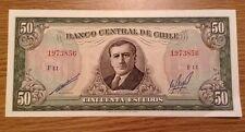 Chile Banknotes. 50 Escudos. P140.