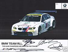 2012 12 Hours of Sebring ALMS BMW WINNER GT  Hero Card  SIGNED