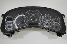 99 2000 01 02 HD2500 BLACK GAUGE ESCALADE PLATINUM SPEEDOMETER CLUSTER *EXCHANGE