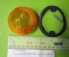 Rickman NOS Flanders Amber Turn Signal Lense w/ Screws & Gasket p/n R008 03 030