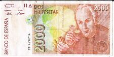 SPAIN BANKNOTE REPLACEMENT NOTE 9C 2000 P164 1996 VF