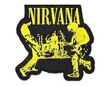 OFFICIAL LICENSED - NIRVANA - LIVE SEW/IRON ON PATCH METAL GRUNGE COBAIN