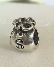 Authentic Pandora Sterling Silver Money Bags Charm Bead 925 ALE 790332
