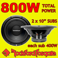 "Rockford Fosgate 10"" 10-inch 400W each CAR AUDIO Bass Sub Subwoofers 4ohm x 2"