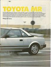 ESSAI ARTICLE PRESSE REPORTAGE  TOYOTA MR 1985 14 PAGES