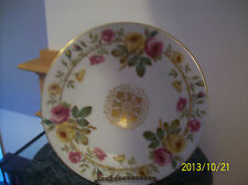 Plate/Charger Large Antique Rose Pattern W/Gold Accent Signed T.V. Limoges 2