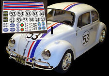 RC Herbie VW autocollants Stickers Tamiya Sand Scorcher Traxxas blitzer Monster BEETLE