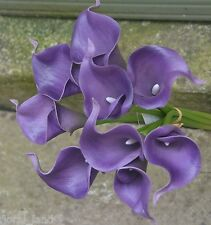 LATEX REAL TOUCH FLOWER BOUQUETS CALLA LILY WEDDING BOUQUET PURPLE LAVENDER