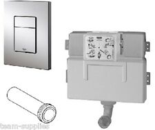 GROHE WC CONCEALED HIDDEN FLUSHING CISTERN 38422 +SQUARE DUAL FLUSH BUTTON 38732